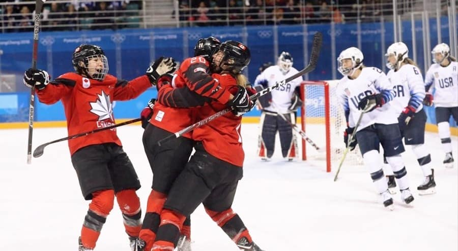 Canada versus USA women's hockey rivalry